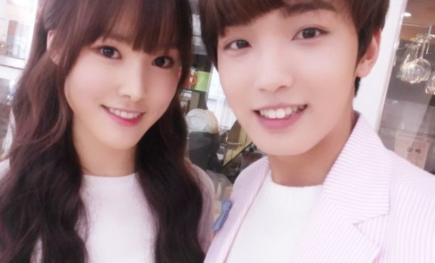 yuju gfriend & sunyoul up10tion - cherish