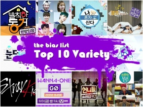The Top 10 Korean Variety Shows of2017