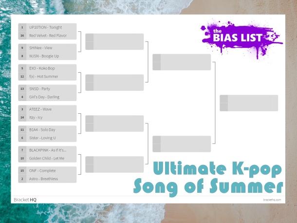 Bias List Bracket - Ultimate K-Pop Song of Summer